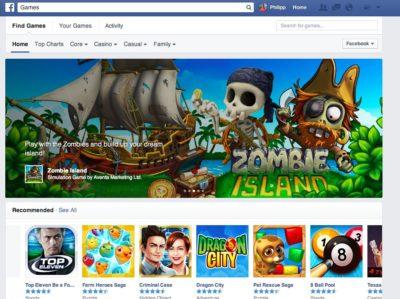 Facebook schaltet das App Center ab und konzentriert sich auf Spiele