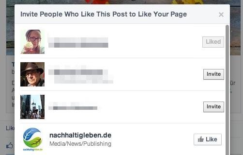 """Post Like von Nicht-Fans? Facebook bietet jetzt """"Einladen-Funktion"""" (Update)"""