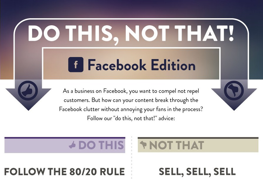 Infografik: Do's und Dont's im Facebook Marketing