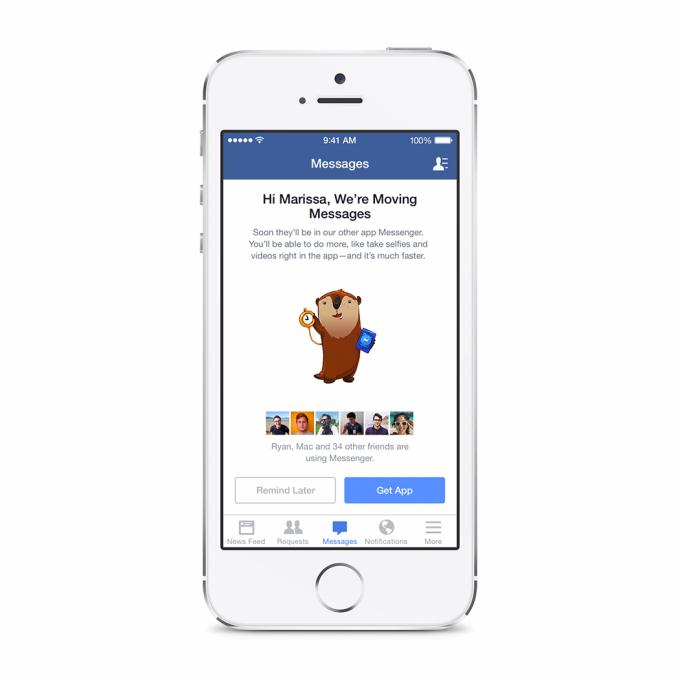 Facebook Messenger Pflicht in der iOS App