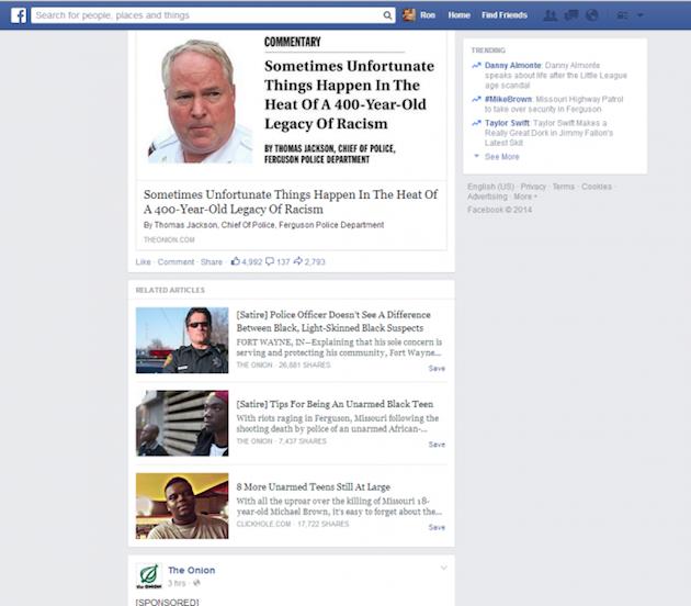 Facebook testet die Kennzeichnung von Satire im Newsfeed