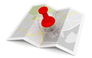 Karte mit Pin