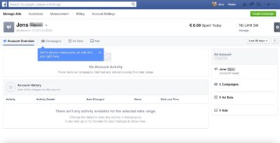 Facebook testet neues, verbessertes Anzeigen-Dashboard