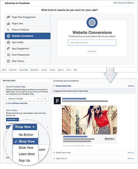 Infografik: Deutlich bessere Anzeigenperformance mit Facebook Call-to-Action Buttons