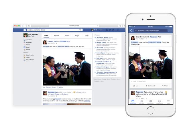 Facebook nach Stichworten durchsuchen