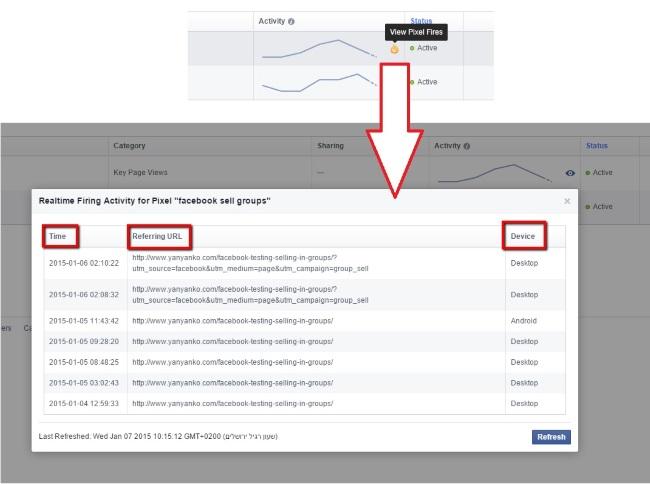 Conversion Pixel in Echtzeit messen bei Facebook