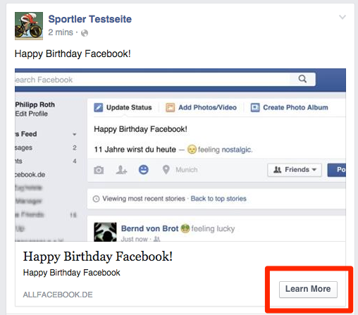 So Gehts Facebook Linkpost Mit Call To Action Button Erstellen