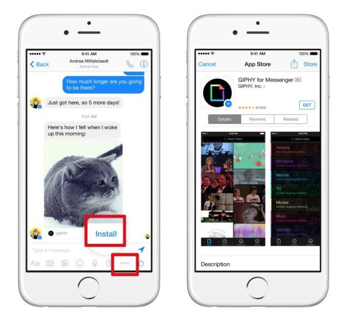 Apps und Anwendungen im Facebook Messenger benutzen