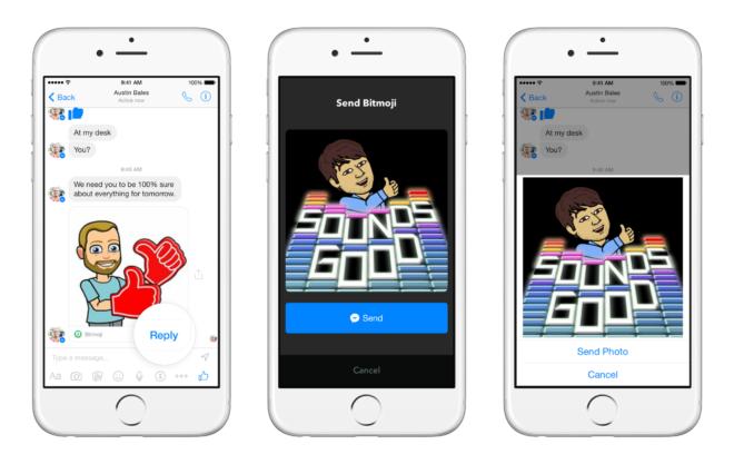 Eine App benutzen ohne den Facebook Messenger zu verlassen