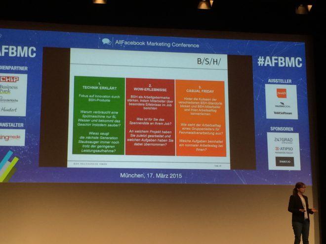 Allfacebook Marketing Conference BSH Strategie