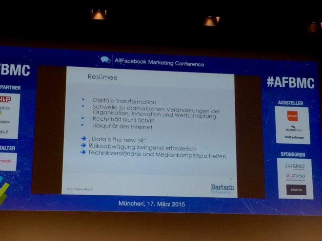 Allfacebook Marketing Conference 2015 Resümee Rechtsupdate 2015