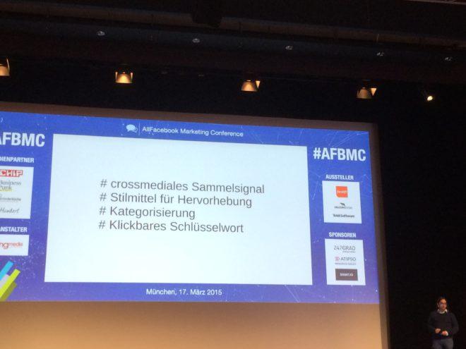 Allfacebook Marketing Conference Bedeutung von Hashtags