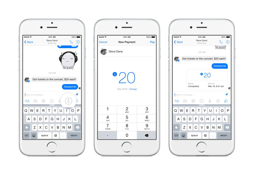 Jetzt offiziell: Geld an Freunde über den Facebook Messenger senden