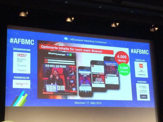 Allfacebook Marketing Conference sharing options tvog