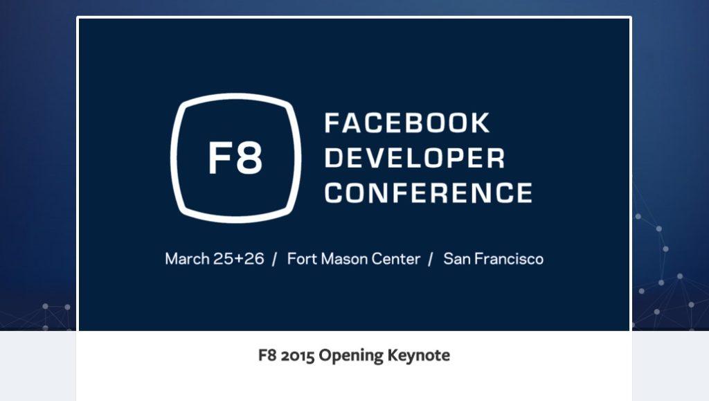 Facebook f8 2015 – Alle Videos jetzt verfügbar