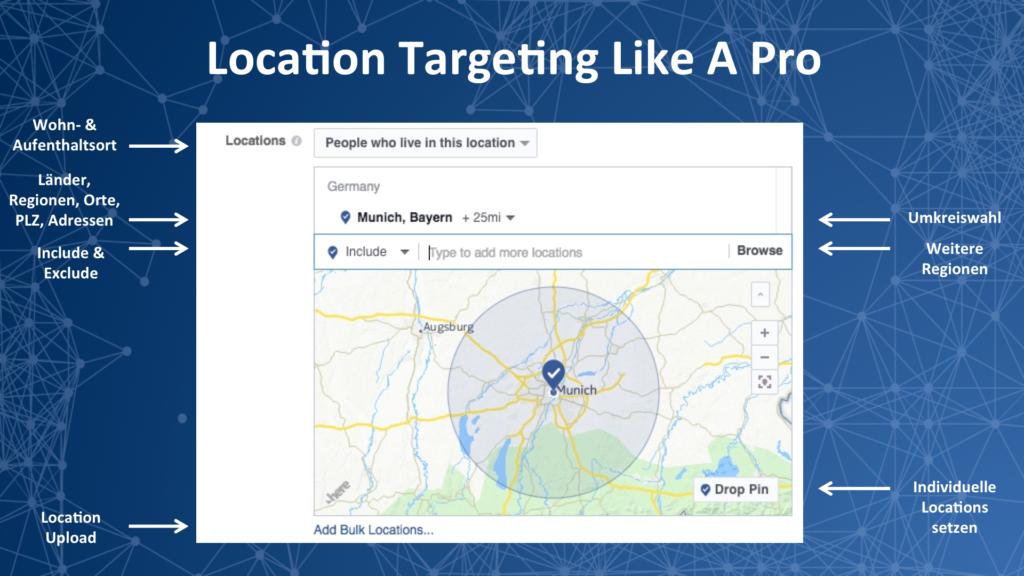 Volle Kontrolle: Das komplette Geo-Targeting bei Facebook-Anzeigen