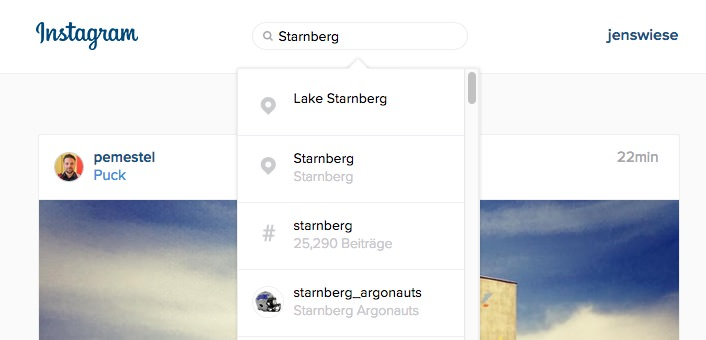 Neue Websuche: Die Suche in Instagram auch im Webbrowser nutzen
