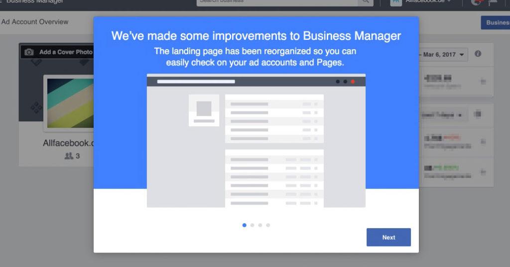 Business Manager Redesign: Einführung ins neue Dashboard