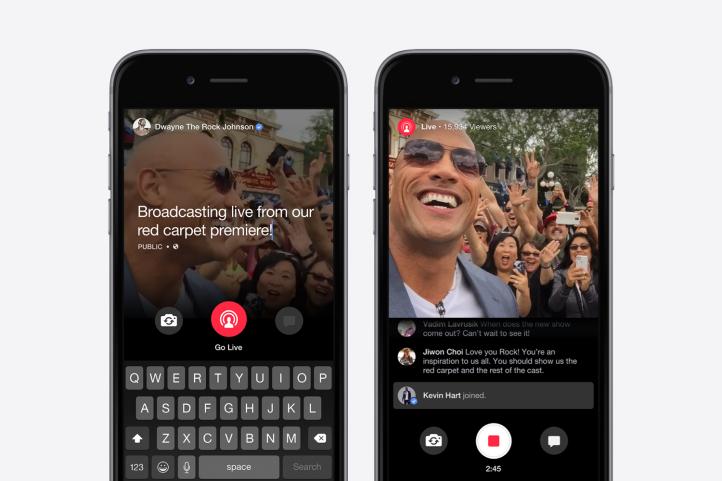 """Facebook stellt """"Facebook Live"""" als Antwort auf Periscope und Meerkat vor"""