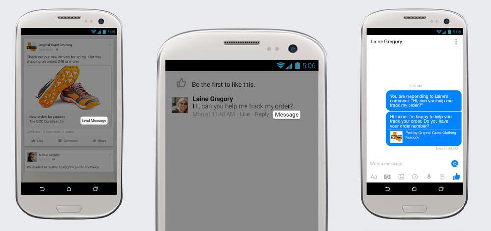 """""""Page Messaging"""" im finalen Rollout: Als Facebook Seite mit Direktnachricht auf Kommentare antworten"""