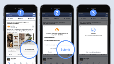 Eure Facebook Lead Ads: Nach Update einfacher, mit Video und neuen CRM-Partnern