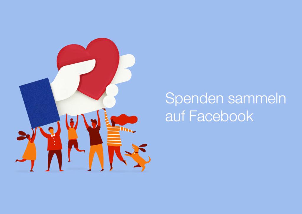 """Facebook für den guten Zweck: Mit dem""""Donate"""" Button direkt auf Facebook Spenden."""