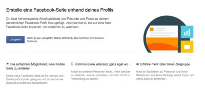 Facebook: Neu gestaltete Funktion für Umwandlung von Profilen in Seiten – mit altbekannten Problemen