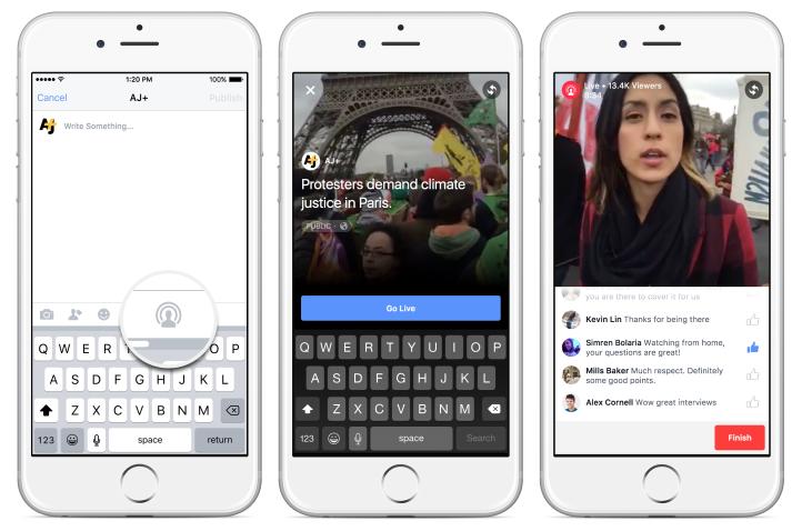 Facebook Live ab sofort für alle Pages