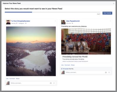 Update am Newsfeed-Algorithmus: Mehr Kontrolle über virale Inhalte durch direkte Nutzerumfragen