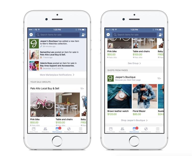Der E-Commerce Push geht in die nächste Runde: der neue Facebook-Marktplatz als zentraler Bestandteil der mobilen App