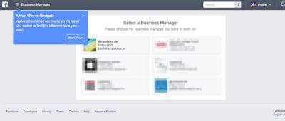 Business Manager mit komplett neuer Menüführung