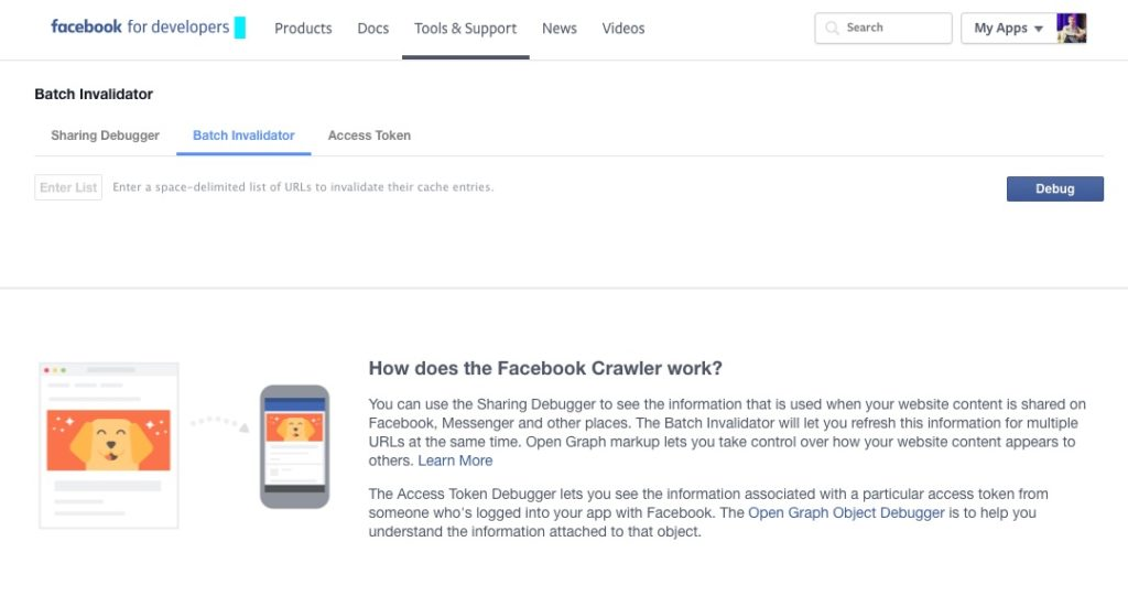 Praktisches Tool: Mit dem Facebook Batch Invalidator viele URL's gleichzeitig neu indizieren