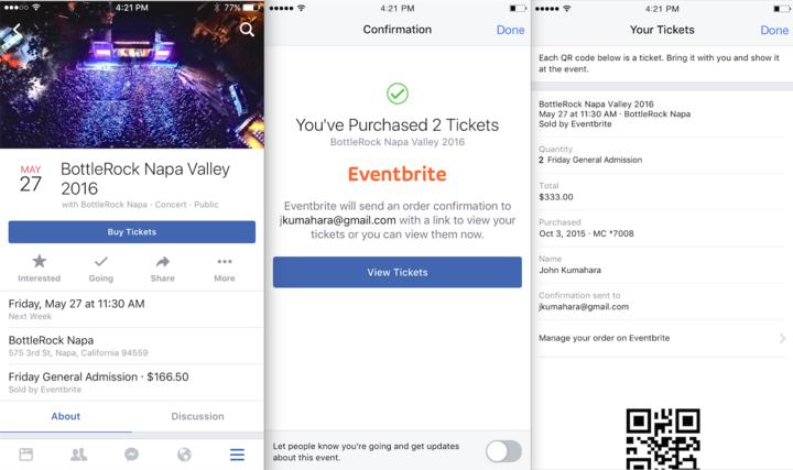 Facebook startet Test mit Event-Ticketverkauf (Interview)