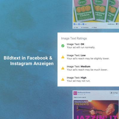 Bildtext in Facebook und Instagram Anzeigen: Vorgaben, Kategorien, Einschränkungen, Tools und die alte 20% Regel