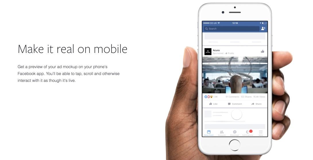 Vorschau Facebook Creative Hub
