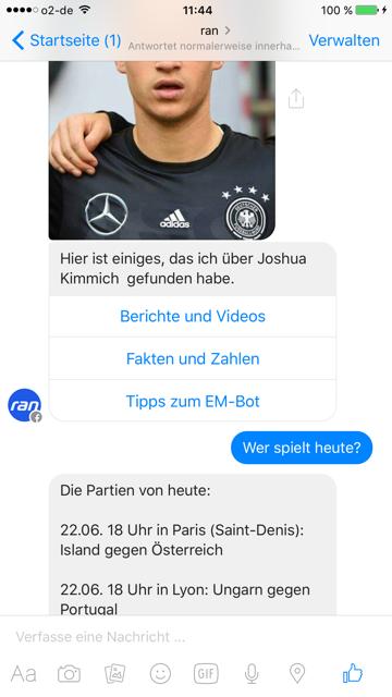 Der Messenger Bot von ran