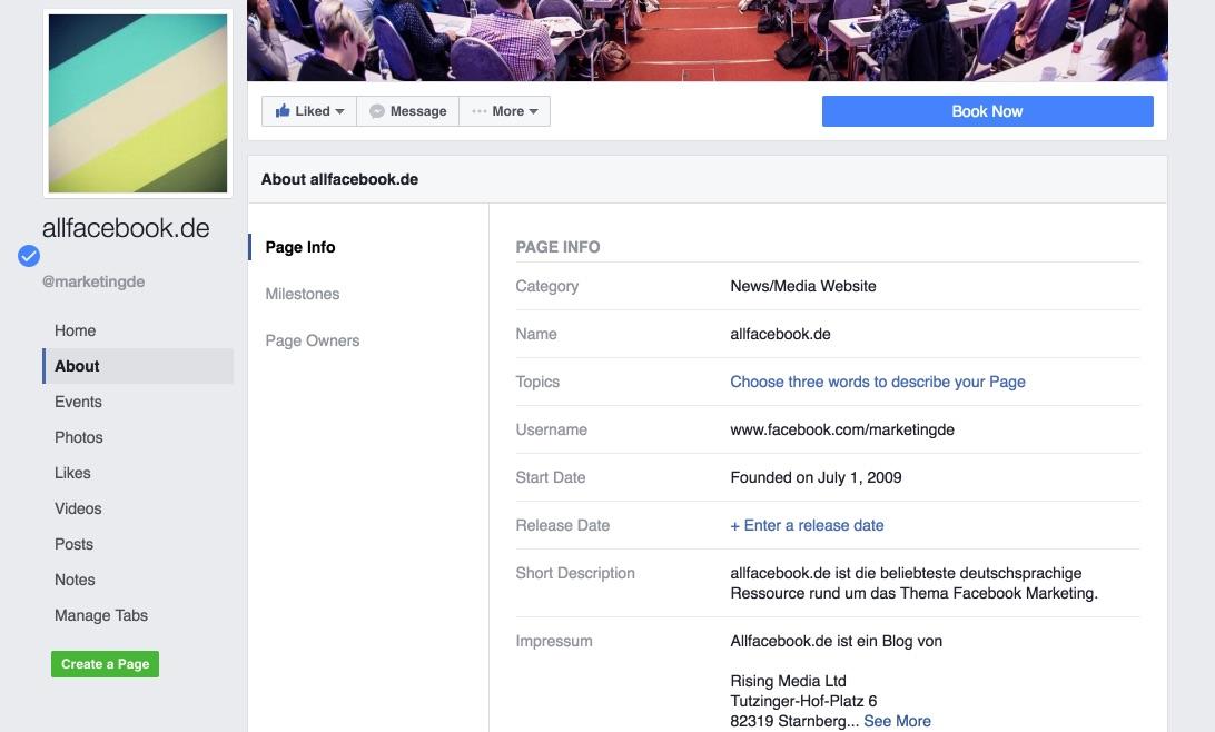 Facebook-tab