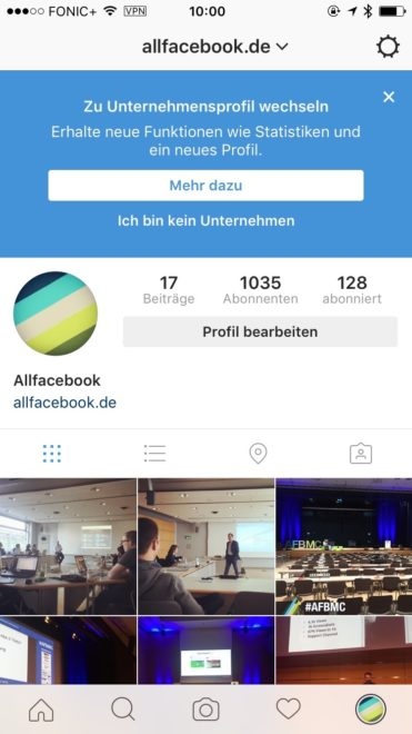 Instagram Business Account einrichten