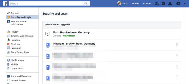 facebook automatisch anmelden