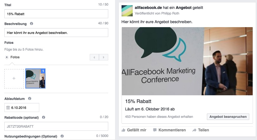 facebook-angebot-gestalten