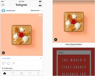 Neu: Instagram Videos Ads mit Splitscreen für die Microsite
