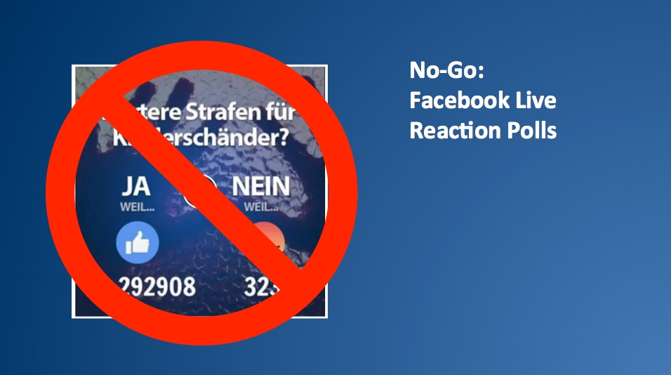 Facebook Live Videos mit Reactions? Verstoß gegen die Policies!