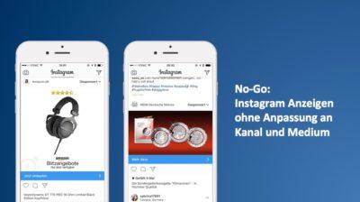 No-Go: Automatische Platzierung von Anzeigen auf Instagram