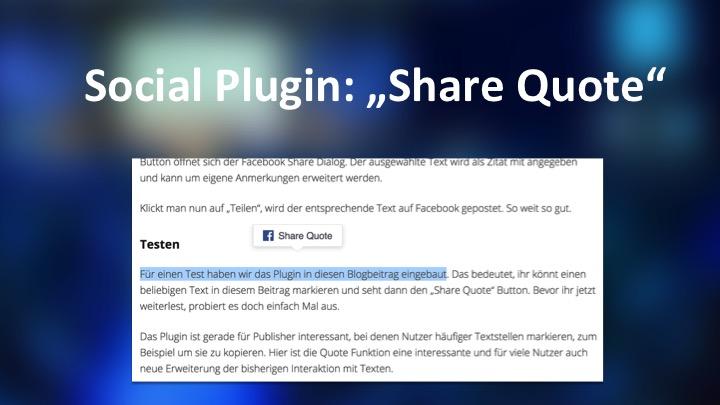 Nett für Publisher: Das bringt euch Facebook Quote Sharing
