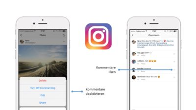 Neue Optionen fürs Instagram Community Management: Kommentare liken & deaktivieren