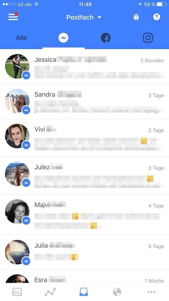 Facebook Besucherbeiträge