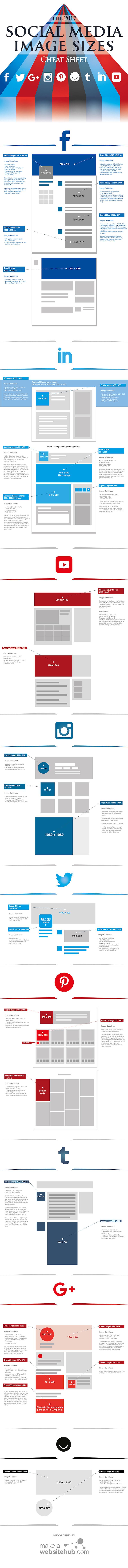 Facebook, Twitter und Instagram Bildgrößen