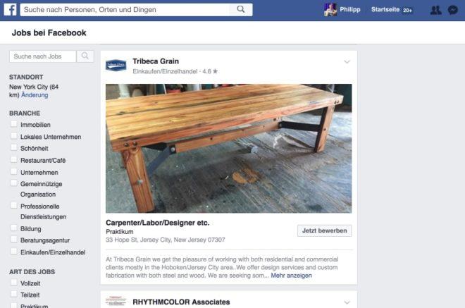 Neue Funktion Jobangebote Einstellen Und Direkt über Facebook