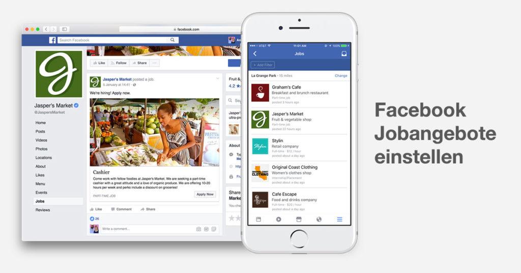 Neue Funktion: Jobangebote einstellen und direkt über Facebook ...