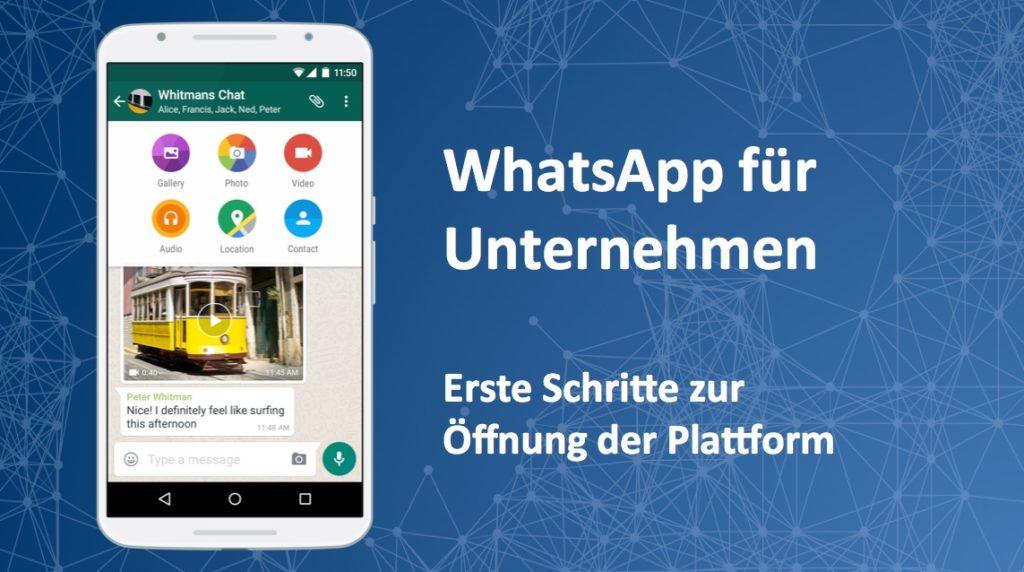 Erste Screenshots: Facebook öffnet WhatsApp für Unternehmen